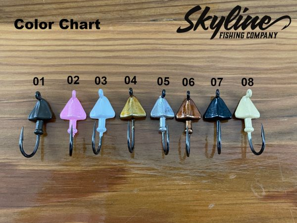 Skyline Crusher Skimmer Bonefish Jig Heads Color Chart